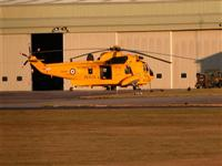 Sea King ZH544 outside SAR, from Crash Gate 2
