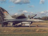 Belgian F-16A on exchange with 74 Sqn