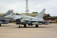 Fully loaded 11 Sqn Typhoon