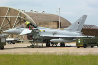 11 Sqn Typhoon in the HAS site